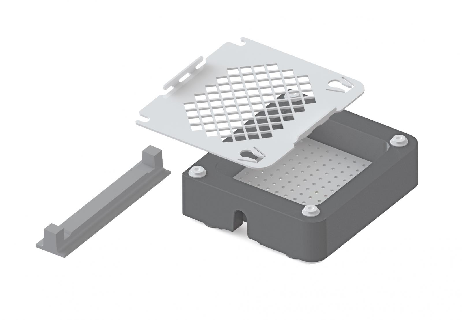 RACK FOR CMF-SYSTEM (SS) WITH SILICONE PROFILE