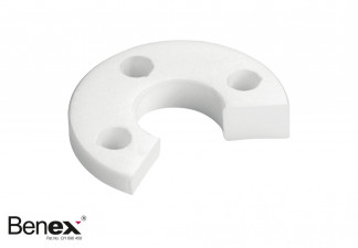 SUPPORT DISC, RIGHT PTFE - WHITE FOR BENEX EXTRACTION SYSTEM