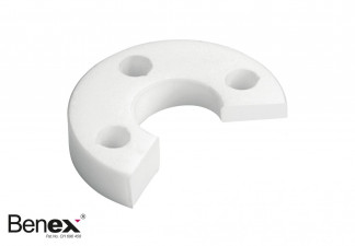 SUPPORT DISC, LEFT PTFE - WHITE FOR BENEX EXTRACTION SYSTEM