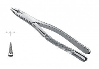 EXTRACTING FORCEPS, STANDARD, FIG. 1, AMERICAN PATTERN, UPPER CENTRALS & CANINES