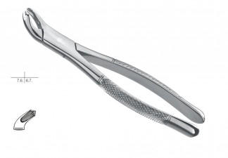 EXTRACTING FORCEPS, AMERICAN PATTERN, FIG. 17, LOWER MOLARS, EITHER SIDE