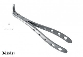 EXTRACTING/ROOT- AND SPLINTER FORCEPS FOR THE LOWER JAW, SEQUESTER, ZEPF XCISION-DESIGN