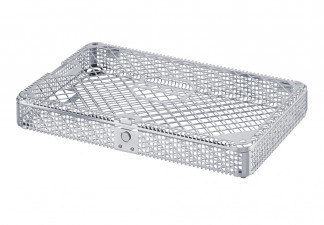 TRAY, WASH BASKET WITH LID AND PRESS BUTTON, 275X178X37 MM INCLUDING RECESS IN LID AND BOTTOM